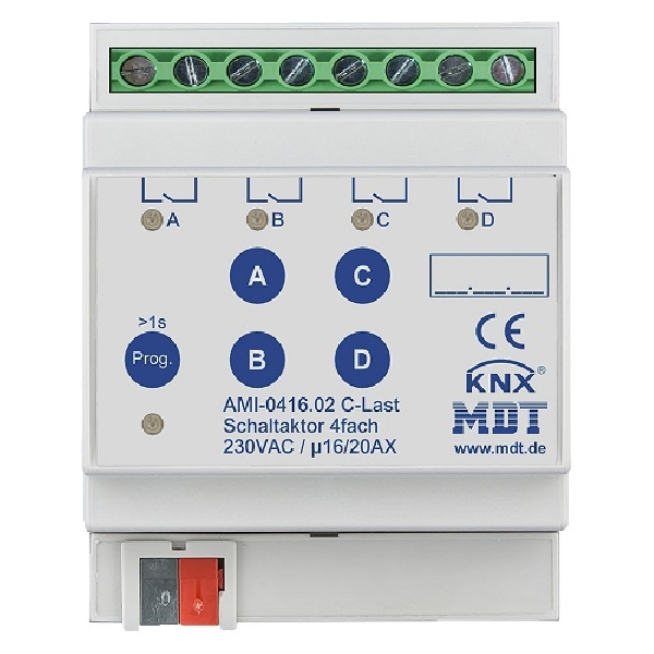 Switch actuator AMI/AMS current rating